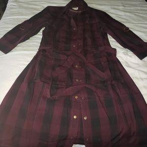 Converse shirt button up dress w belt